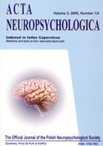 wydawnictwo ACTA Neuropsychologia
